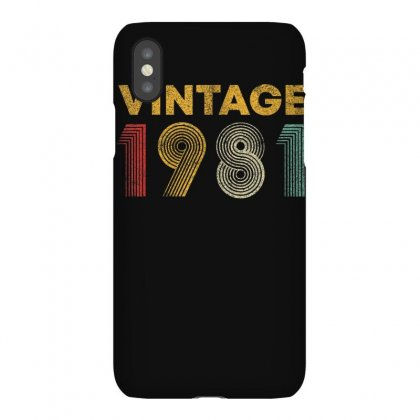 Vintage 1981 39 Years Old Born In 1981 39th Birthday Gift T Shirt Iphonex Case Designed By Cuser1744