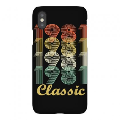 Vintage 1981 T Shirt   38th Birthday Gift For Men And Women Iphonex Case Designed By Cuser1744