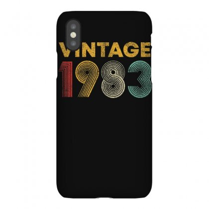 Vintage 1983 37 Years Old Born In 1983 37th Birthday Gift T Shirt Iphonex Case Designed By Cuser1744