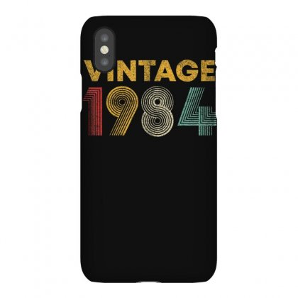 Vintage 1984 36 Years Old Born In 1984 36th Birthday Gift T Shirt Iphonex Case Designed By Cuser1744