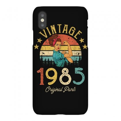Vintage 1985 Made In 1985 34th Birthday 34 Years Old Gift T Shirt Iphonex Case Designed By Cuser1744