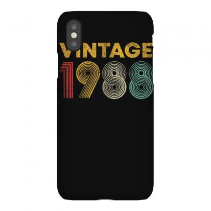 Vintage 1988 32 Years Old Born In 1988 32nd Birthday Gift T Shirt Iphonex Case Designed By Cuser1744