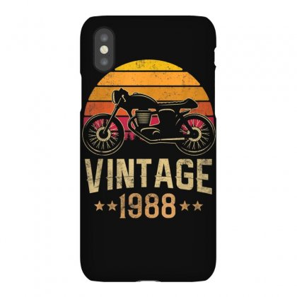 Vintage 1988 Retro Cafe Racer Motorcycle 32nd Birthday Gift T Shirt Iphonex Case Designed By Cuser1744