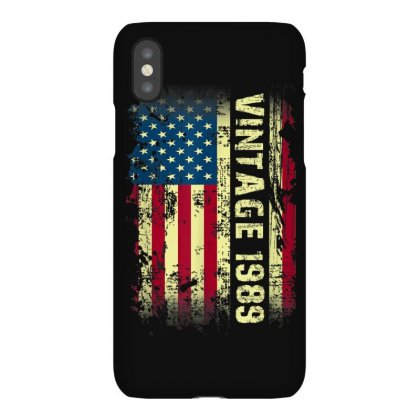Vintage 1989 Usa Flag 31st Birthday Gifts 31 Year Old Bday T Shirt Iphonex Case Designed By Cuser1744