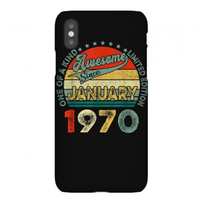 Vintage Awesome Since January 1970 50th Bday 50 Years Old T Shirt Iphonex Case Designed By Cuser1744