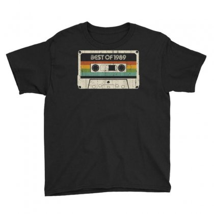 Vintage Best Of 1989 30th Birthday Cassette T Shirt Youth Tee Designed By Cuser1744