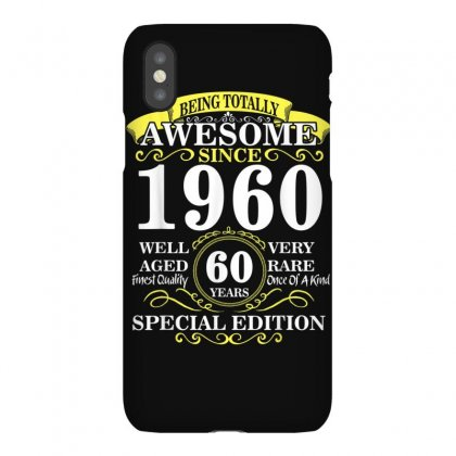 Vintage Born In 1960 60th Birthday 60 Years Old Awesome T Shirt Iphonex Case Designed By Cuser1744
