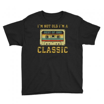Vintage Cassette I'm Not Old I'm A Classic 1980 39th T Shirt Youth Tee Designed By Cuser1744