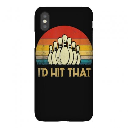Vintage I'd Hit That Funny Bowling Funny Bowler Gift  T Shirt Iphonex Case Designed By Cuser1744