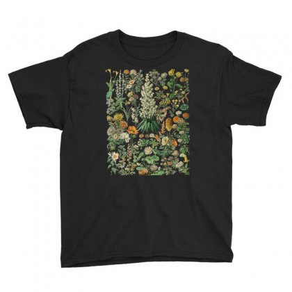Vintage Inspired Flower Botanical Chart T Shirt Youth Tee Designed By Cuser1744