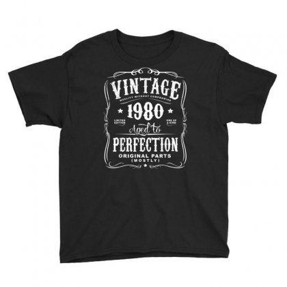 Vintage Made In 1980 T Shirt 38th Birthday Gift Youth Tee Designed By Cuser1744