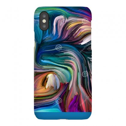 Advance Fused Colors Liquid Color Series Arrangement Multi Paint Strea Iphonex Case Designed By Sonu Kumar Tiwari