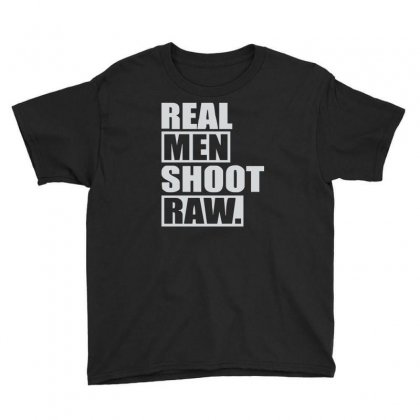 Real Men Shoot Raw Youth Tee Designed By Ruliyanti
