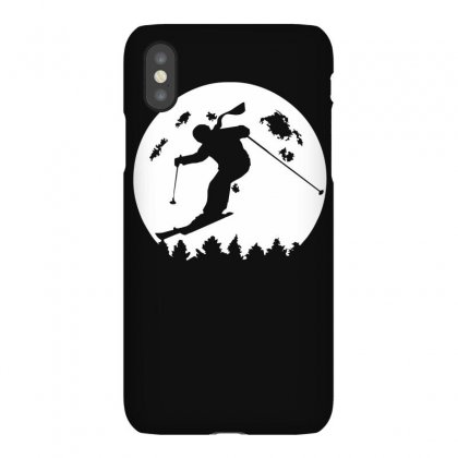 Skiier Moon Moonlight Silhouett Iphonex Case Designed By Ruliyanti