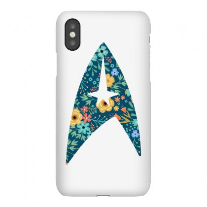 Star Trek Floral Starfleet Flowers Iphonex Case Designed By Honeysuckle