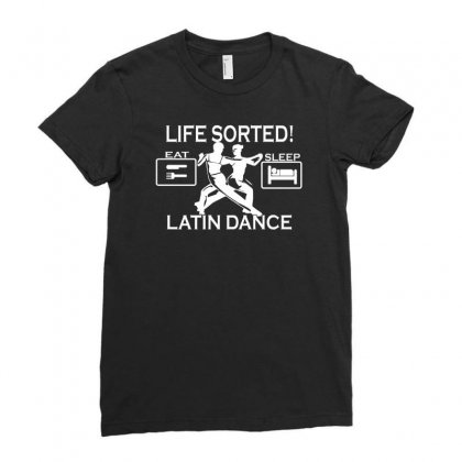 Ballroom Dancing Ladies Fitted T-shirt Designed By Ruliyanti