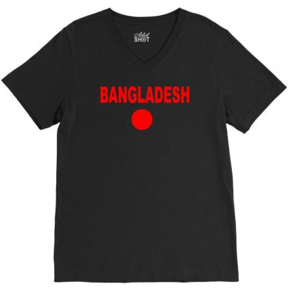 Bangladesh International Team National Country V-neck Tee Designed By Ruliyanti