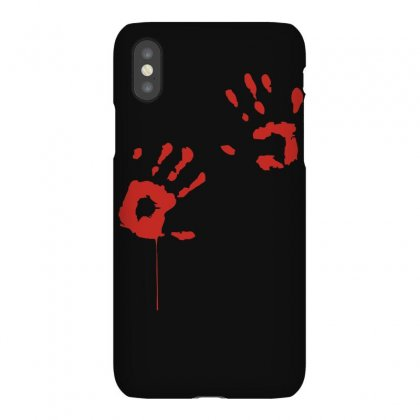 Bloody Hand Print Funny Zombie Kill Undead Blood Horror Killer Iphonex Case Designed By Ruliyanti