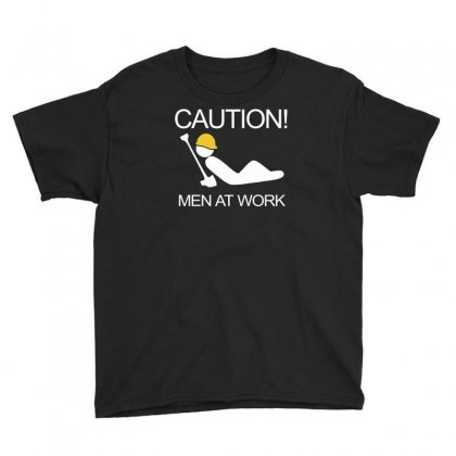 Caution Men At Work Youth Tee Designed By Ruliyanti