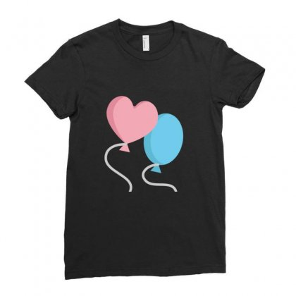 Balloons Ladies Fitted T-shirt Designed By Ratna