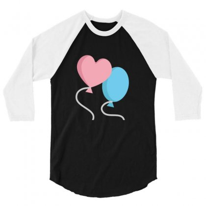 Balloons 3/4 Sleeve Shirt Designed By Ratna