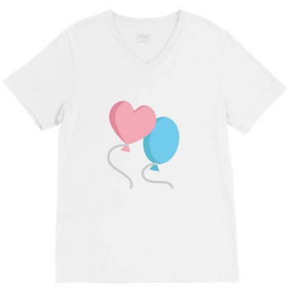 Balloons V-neck Tee Designed By Ratna