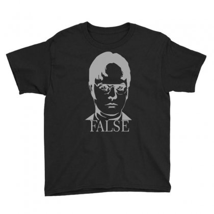 Dwight Schrute 'false' The Office Youth Tee Designed By Ruliyanti