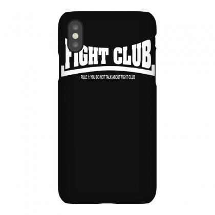 Fight Club Rule 1 You Do Not Mention Fight Club Iphonex Case Designed By Ruliyanti