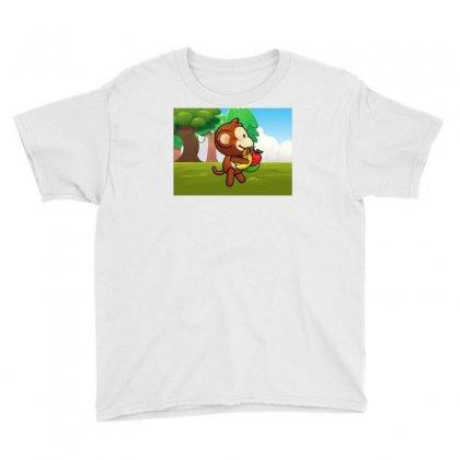 Climbing Monkey 3 Youth Tee Designed By Foris