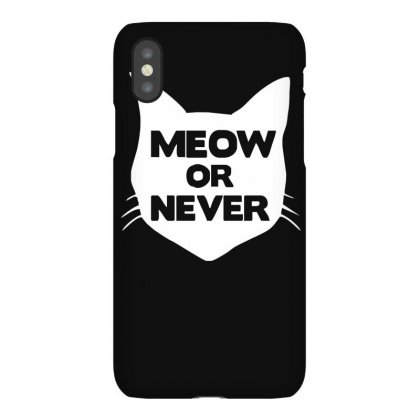 Meow Or Never Cat Iphonex Case Designed By Ruliyanti