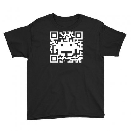 Space Alien Qr Code Youth Tee Designed By Ruliyanti