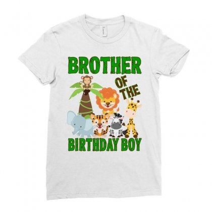 Jungle Design For Baby Boy Brother Ladies Fitted T-shirt Designed By Sengul
