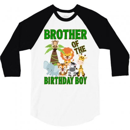 Jungle Design For Baby Boy Brother 3/4 Sleeve Shirt Designed By Sengul