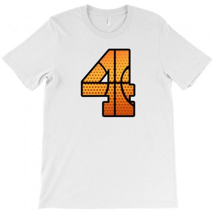 Basketball Number Four T-shirt Designed By Sengul