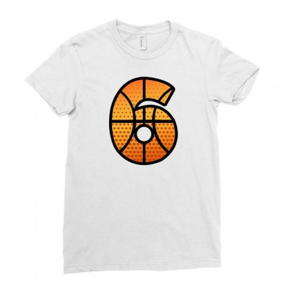 Basketball Number Six Ladies Fitted T-shirt Designed By Sengul
