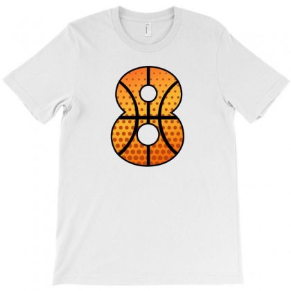 Basketball Number Eight T-shirt Designed By Sengul