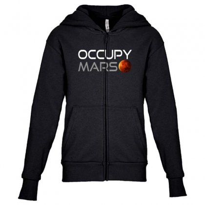 Occupy Mars For Dark Youth Zipper Hoodie Designed By Gurkan