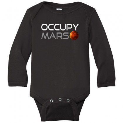 Occupy Mars For Dark Long Sleeve Baby Bodysuit Designed By Gurkan