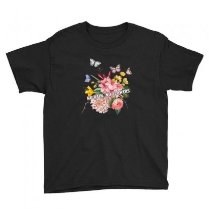 No Rain No Flowers Youth Tee Designed By Gurkan