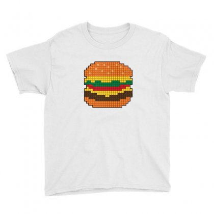8 Bit Burger Youth Tee Designed By Sr88