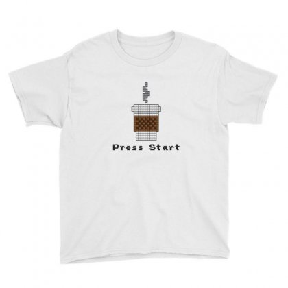 8 Bit Coffee Youth Tee Designed By Sr88