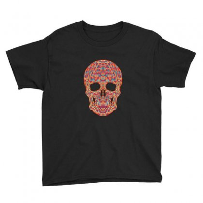 Geometric Skull Youth Tee Designed By Sr88