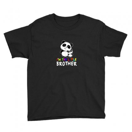 I M The Little Brother Gift Shirt Cute Panda Pandas Siblings Youth Tee Designed By As99