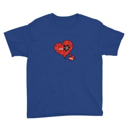 Valentine Love You Youth Tee Designed By As99