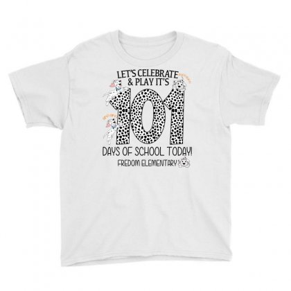 101 Days Smarter Dalmatian Puppy Youth Tee Designed By Omer Acar