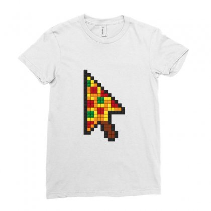 Pizza Cursor Ladies Fitted T-shirt Designed By Sr88