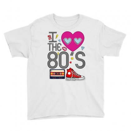 I Heart The 80's Youth Tee Designed By Omer Acar