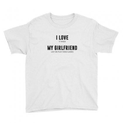 I Love My Girlfriend Youth Tee Designed By Chris Ceconello