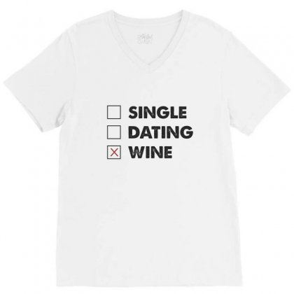 Wine V-neck Tee Designed By Chris Ceconello