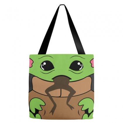 Baby Yoda Feed Me And Tell Me I'm Pretty Tote Bags Designed By Honeysuckle